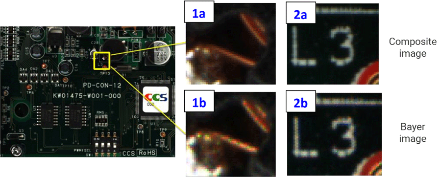 Composite Color image within CCS Ultra-resolution color computational imaging application