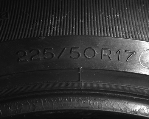 Tire E - Example of Tire inspection with Photometric Stereo (PMS) using CCS LED illumination