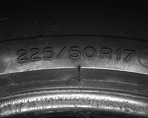 Tire S - Example of Tire inspection with Photometric Stereo (PMS) using CCS LED illumination