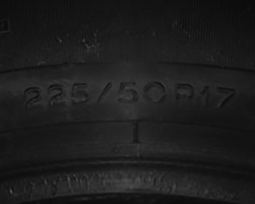 Tire Texture - Example of Tire inspection with Photometric Stereo (PMS) using CCS LED illumination